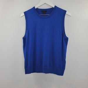 J. Crew Cotton Jackie Shell Knit Sweater Vest Blue